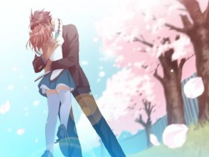 beso apasionado anime