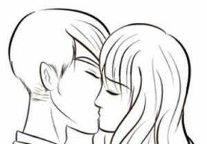 beso de enamorados fácil