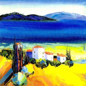 bonito paisaje para pintar al oleo