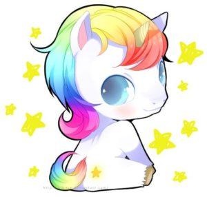 bonito unicornio kawaii