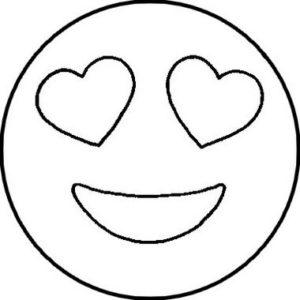 dibujo de emoji enamorado