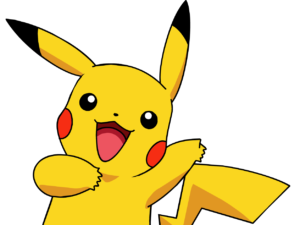 dibujo de pikachu a color