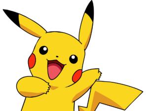 dibujo de pikachu a color