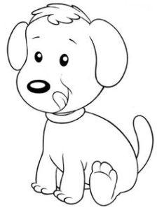 dibujo fácil de perro