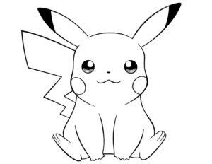dibujo fácil de pikachu