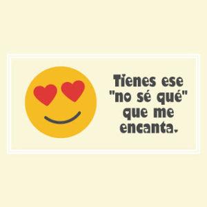 emoji con frase de amor