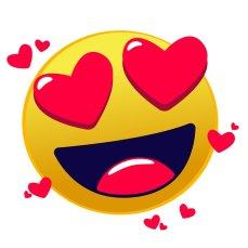 emoji con ojos de corazones