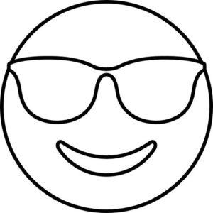 emoji cool para colorear