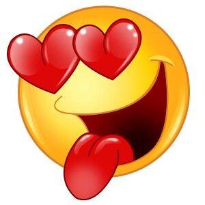 emoji enamorado sacando la lengua