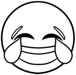 emoji riendo para colorear