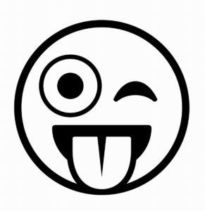 emoji sacando la lengua para dibujar
