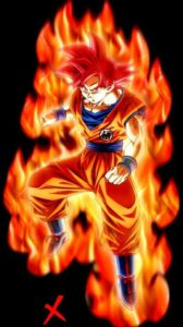 goku dios color rojo