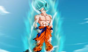 goku fase dios azul para portada