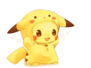 kawaii de pikachu para dibujar