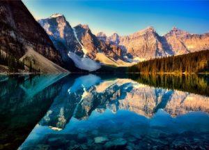 Lago moraine de Canada