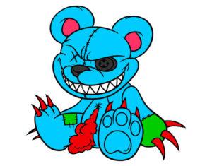 oso malvado para dibujar