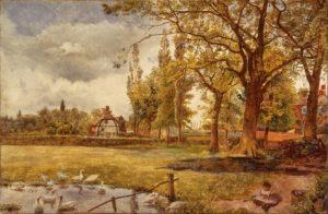 paisaje con arboles para pintar al oleo