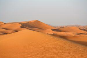 paisaje desierto de dubai