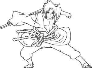 sasuke para dibujar y pintar