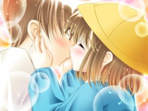 tierno beso anime