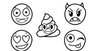 varios emojis para colorear