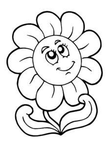 flor sonriente para dibujar